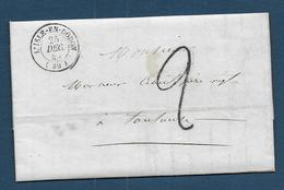 Haute Garonne - Cachet Type15  L' ISLE - EN - DODON + Taxe 2 - Marcophilie (Lettres)
