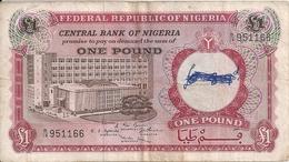 NIGERIA 1 POUND ND1967 VG+ P 8 - Nigeria