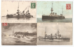 Lot De Cartes 92 Postales De Bâtiments/navires De Guerre : Cuirassé, Croiseur, Torpilleur, Contre Torpilleur... - Guerra