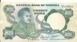 NIGERIA 20 NAIRA ND1984-  UNC P 26 - Nigeria