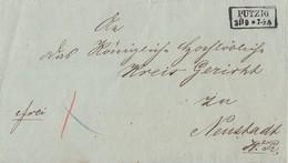 Preussen Brief R2 Putzig 25.9. Gel. Nach Neustadt Westpreussen - Preussen
