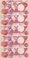 NIGERIA 10 NAIRA 2001 UNC P 25 F ( 5 Billets ) - Nigeria