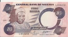 NIGERIA 5 NAIRA  2001 AUNC P 24 G - Nigeria