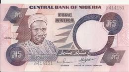 NIGERIA 5 NAIRA 2002 UNC P 24 G - Nigeria