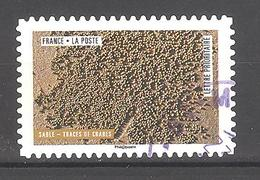 France Autoadhésif Oblitéré N°1506 (oeuvres De La Nature : Sable, Traces De Crabe) (cachet Rond) - France
