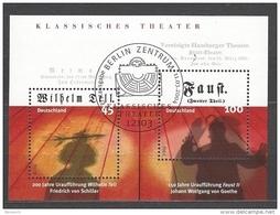 BUND - Mi-Nr. Block 65 Klassisches Theater Gestempelt BERLIN - BRD