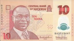NIGERIA 10 NAIRA 2013 UNC P 39 D - Nigeria