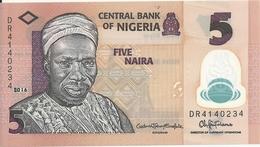 NIGERIA 5 NAIRA 2016 UNC P 38 G - Nigeria