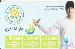 TUNISIA - Tunisie Telecom Recharge Card 10 Din, Used - Tunisia