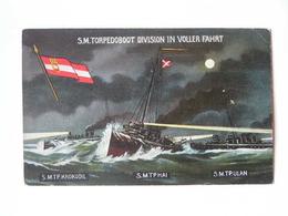 K.U.K. Kriegsmarine Marine  SMS 1155 Torpedoboot Krokodil Hai Ulan 1914 Ed G Fano Nr 41 - Guerra