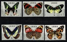 Liberia 1974 Sc. 683/88, Mi 930/35  Butterflies, Papillons, Vlinders, Obl. -  Gebr. - Used - Liberia