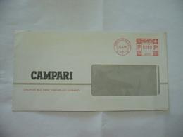 BUSTA PUBBLICITARIA COMMERCIALE CAMPARI HELVETIA 1985. - Alcolici