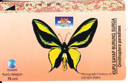 INDONESIA - Butterfly, Ornithoptera Paradisea, 02/96, Used - Indonesia