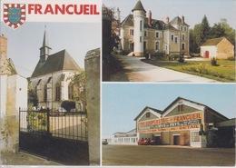 37 - FRANCUEIL - 3 VUES  LE MOULIN NEUF CHAMBRES D'HOTES CAVE COOPERATIVE LA GOURMANDIERE L'EGLISE ST THIBAULT - Sonstige Gemeinden