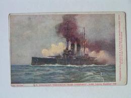 K.U.K. Kriegsmarine Marine  SMS 1176 SMS Erzherzog Franz Ferdinand 1914 Alex Kircher Flottenverein Nr 6 - Oorlog