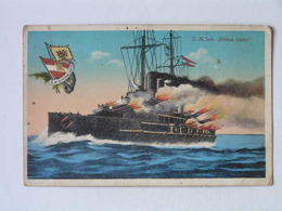 K.U.K. Kriegsmarine Marine  SMS 1185 SMS Viribus Unitis 1919 Ed G Costalunga - Guerra