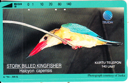 INDONESIA - Bird, Halcyon Capensis, 10/94, Used - Birds