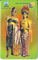 INDONESIA(chip) - Pengantin Bali/Balinese Brides, Telkom Telecard 100 Units, Used - Indonesia