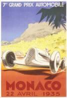 Monaco Grand Prix  -  1935  -  Delage   -   Illustration Par Geo Ham     -    Carte Postale - Grand Prix / F1