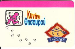 GREECE - Flocafe/Treasure Hunt, Free Fone Promotion Prepaid Card, Exp.date 31/05/01, Sample - Greece