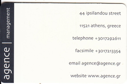 GREECE - Agence Management, Free Fone Promotion Prepaid Card, Tirage 1500, Exp.datre 31/01/02, Sample - Greece