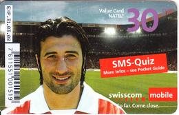 SWITZERLAND - Murat Yakin, Swisscom Prepaid Card 30 CHF, Exp.date 31/03/08, Used - Switzerland