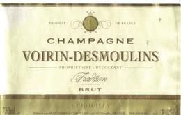 Etiquette De Champagne   -  Voirin Desmoulins Chouilly - Champagne