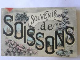 CPA (02) Aisne - Souvenir De SOISSONS - Wiblet, édit. - Soissons