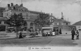 21 - Dijon - La Gare Ville (animée, Petit Métier, Photo-Email Breger 1907) - Dijon