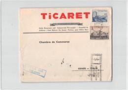 AG1697 02  TICARET IZMIR TO GENOVA - AIR MAIL - 1921-... Repubblica