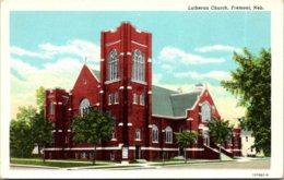 Nebraska Fremont Lutheran Church Curteich - Fremont
