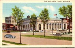 Wisconsin Kenosha Post Office Curteich - Kenosha