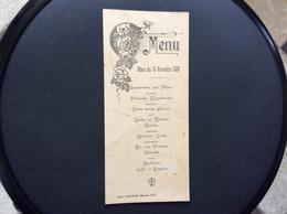MENU Diner Du 20 Novembre 1933  HOTEL GRAYON Magne  DEUX-SEVRES - Menus