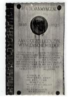 Wingene  Gedenkplaat Aan De Kerk Fotokaart 1962 - Wingene