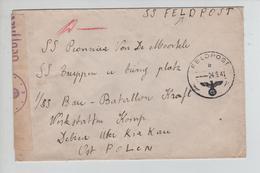3182/ Guerre-Oorlog 40-45 SS Feldpost SS Van De Moortele (Gent) C.Feldpost B 24.9.41 > Ost Front Polen Censure 'c' - Guerre 40-45