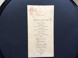 MENU Diner Du 1er Mars 1930  CAFÉ Mme Vve TH. GEFFRE  Niort - Menus