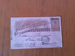 Congo Belge Entier Postal De Elisabethville Vers Bruxelles En 1911 - Interi Postali