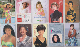 LOT De 50 TELECARTES PRIVEES DIFFERENTES Japon FEMME FEMMES GIRL GIRLS WOMAN WOMEN Japan PRIVATE PHONECARDS FRAUEN  6118 - Japan