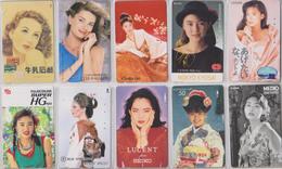 LOT De 50 TELECARTES PRIVEES DIFFERENTES Japon FEMME FEMMES GIRL GIRLS WOMAN WOMEN Japan PRIVATE PHONECARDS FRAUEN  6119 - Japan
