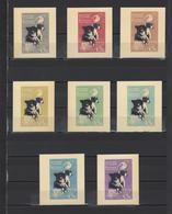 ++ 1966 Dogs In Space 6 Kop Nominal In Different Colour Thick Paper Colour Proof - Essais & Réimpressions