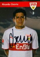 TARJETA PUBLICITARIA , FÚTBOL , SOCCER , FOOTBALL ,  RICARDO OSORIO - Fútbol