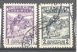 Epire: Yvert N° 10/11°; Cote 20.00€ - Epirus & Albanie