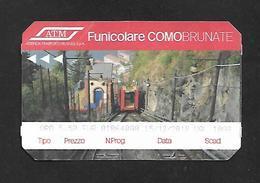 Biglietto Funicolare - Como Brunate - ATM Milano - Bus