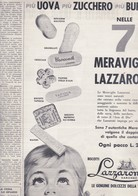 (pagine-pages)PUBBLICITA' LAZZARONI   Gente1961/12. - Libri, Riviste, Fumetti