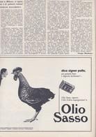 (pagine-pages)PUBBLICITA' OLIO SASSO   Gente1961/12. - Libri, Riviste, Fumetti