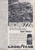(pagine-pages)PUBBLICITA' GOODYEAR   Gente1961/12. - Libri, Riviste, Fumetti