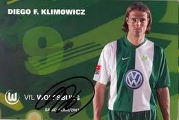 TARJETA PUBLICITARIA , FÚTBOL , SOCCER , FOOTBALL , VFL WOLFSBURG - BUNDES LIGA , DIEGO F. KLIMOWICZ - Fútbol