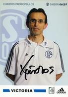 TARJETA PUBLICITARIA , FÚTBOL , SOCCER , FOOTBALL , FC SCHALKE O4 / VICTORIA - CHRISTOS PAPADOPOULOS - Fútbol
