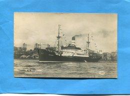 Paquebot-SS BURGUNDIA- -port De  Göteborg-a Voyagé En 1938  -édition Arta - Steamers