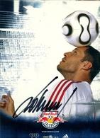 TARJETA PUBLICITARIA , FÚTBOL , SOCCER , FOOTBALL , RED BULL - SALZBURG , VRATISLAV LOKVENC - Fútbol